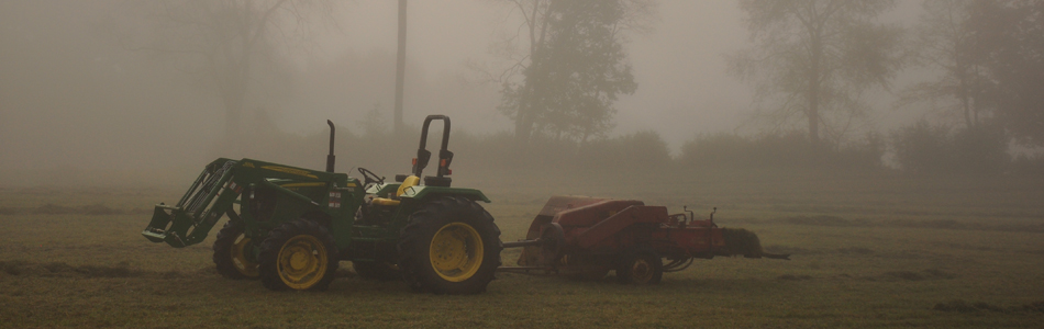 Sweetland Farm - Tractor in Fog